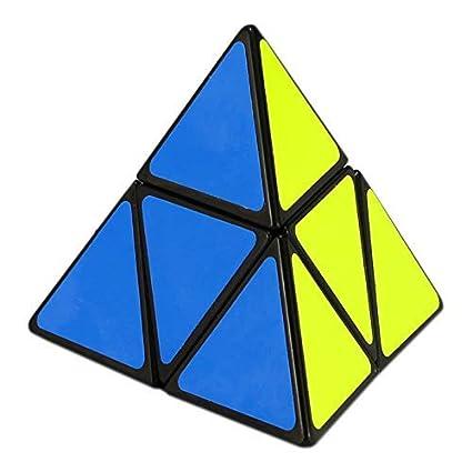 IndusBay High Speed Pyramid Pyraminx Stickerless Triangle Rubiks Cube Puzzle