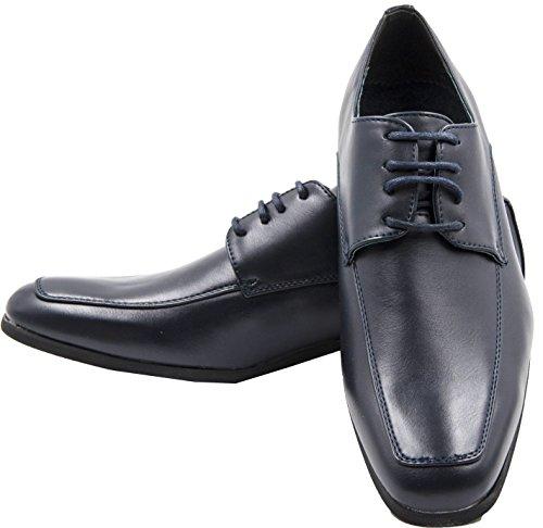 de cordones zapatos de Zapatos forro boda con derby piel para zapatos Azul de ceremonia 4YHxYdqgn