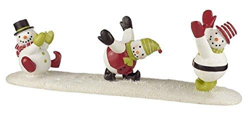 (Cheerful Christmas Holiday Snowmen Wine Bottle)