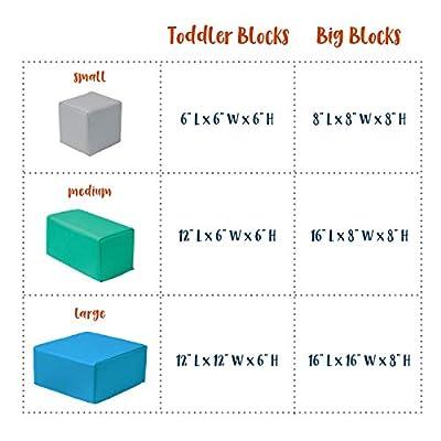 ECR4Kids Softzone Foam Big Building Blocks, Soft Play For Kids (7-Piece Set), Big Blocks, Contemporary: Industrial & Scientific