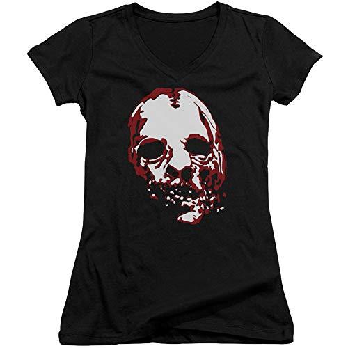 Courtes Story Horror American shirt T Manches Fille Noir Opaque HqPFFwX5x
