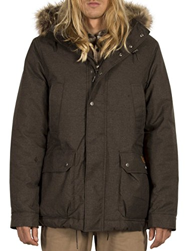 Heather Outerwear Down Black Volcom Men's Coat nIExwwgpq