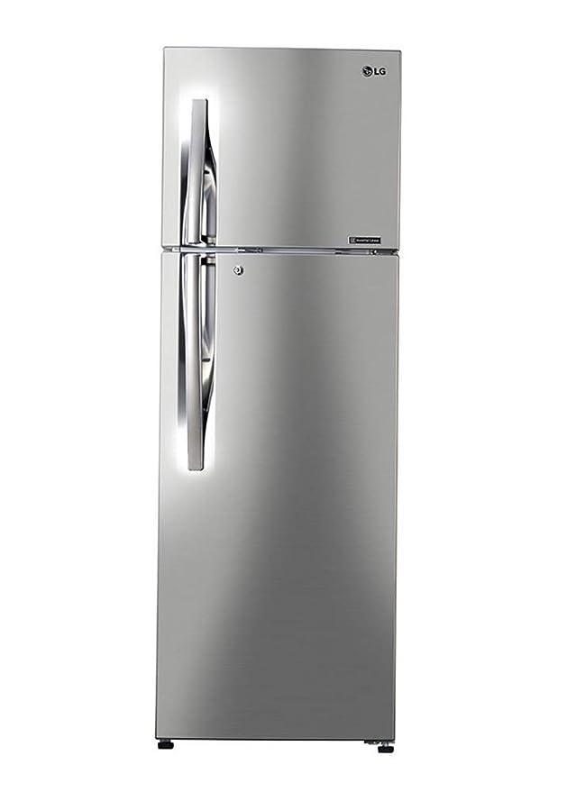 LG 284 L 3 Star Inverter Frost Free Double Door Refrigerator  GL T302RPZU, Shiny Steel  Refrigerators