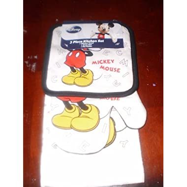 Disney Mickey Mouse, 3 Piece Set, Towel, Oven Mit, & Pot Holder