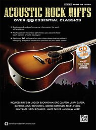 Alfred Acoustic Rock Riffs Guitar Book & CD (Over The Hills And Far Away Sheet Music)