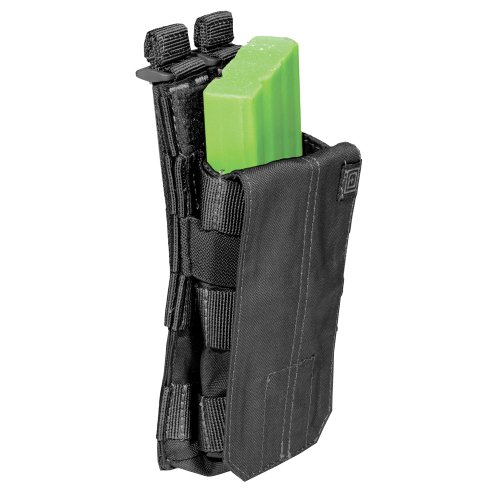 5.11 AR Bungee/Cover Single Magazine Pouch, Black (511 Mag Double Pouch)