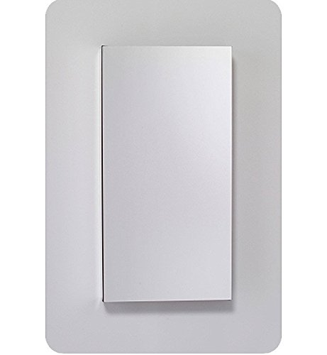 (Robern MC1630D4FPL M-Series Mirror Cabinet with Plain Edge Door, Silver)