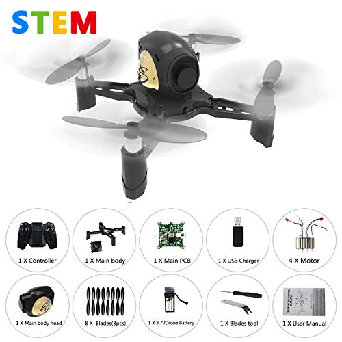 - REMOKING R605 RC STEM DIY Drone Toys Mini Racing Quadcopter Headless Mode 2.4GHz 360°flip 4 Channels Altitude Hold Indoor and Outdoor Game Educational Building Toy Science Kit for Kids and Adults