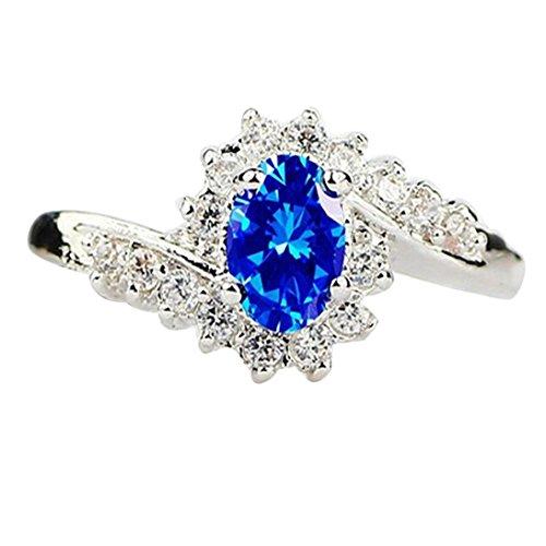Ring,kaifongfu Natural Engagement Strange Ring Gemstones Bride Princess Ring for Wedding (6, Blue) from kaifongfu_Rings