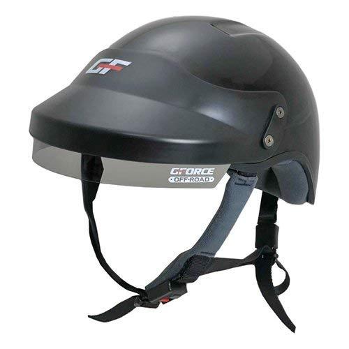 G-Force OffRoad 4414LRGBK Off-Road UTV Open Face Helmet DOT Approved Large Black