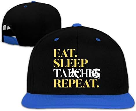 Baby Boy Baseball Cap Eat Sleep TAI CHI Repeat Adjustable Snapback Sun Hat
