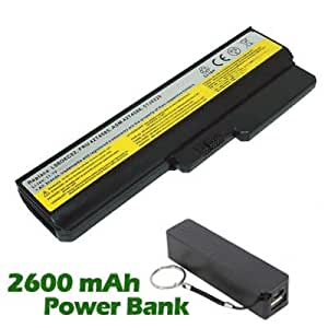 Battpit Bateria de repuesto para portátiles Lenovo IdeaPad V460 (4400 mah) con 2600mAh Banco de energía / batería externa (negro) para Smartphone