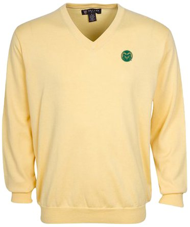 Oxford NCAA Colorado State Rams Men's Devon V-Neck Sweater (Butter, X-Large) by Oxford