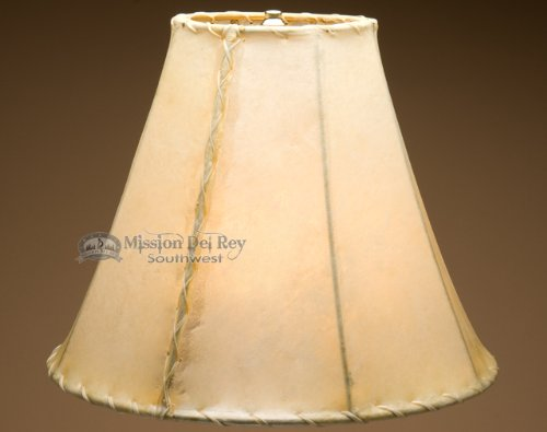 Rawhide Lamp Shades for Southwestern Lamps (16'' bell) by Mission Del Rey