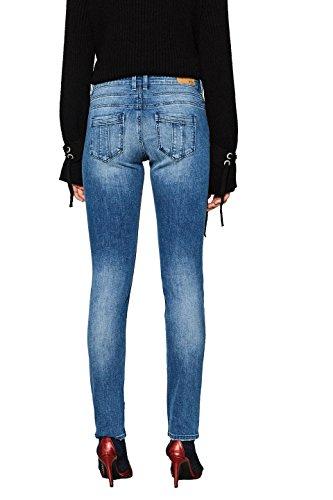Edc Medium Esprit Blu By Jeans Slim Wash blue Donna 902 qxqWAfSr0n