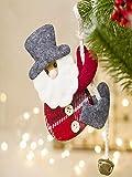 Franterd Santa Claus Reindeer Snowman Christmas Bell Doll Decoration for Creative Home Xmas Tree Kid Gift Happy Christmas
