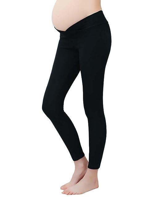 59e9458991ec Keephen Leggings di maternità vita bassa gravidanza pancia pantaloni per le donne  incinte e le donne