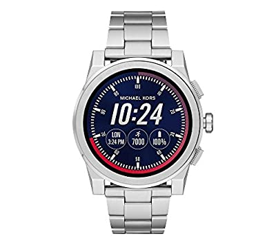 Michael Kors Men's Silvertone Grayson Smartwatch by Michael Kors