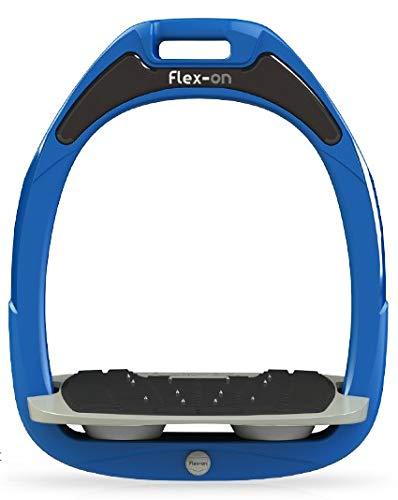 【 限定】フレクソン(Flex-On) 鐙 ガンマセーフオン GAMME SAFE-ON Mixed ultra-grip フレームカラー: ブルー フットベッドカラー: グレー エラストマー: グレー 09228   B07KMT1X59