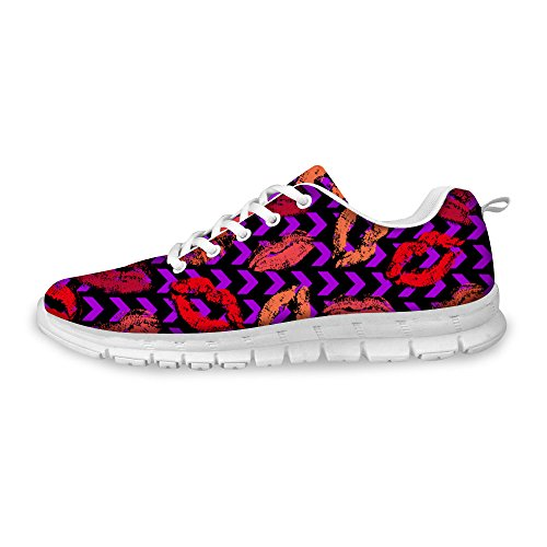 For U Designs Zapatillas De Moda Para Mujer Relax Light Mesh Zapatillas De Running Transpirables Morado A