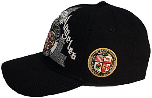 Los Angeles City Script Hat Black Ball Cap ()