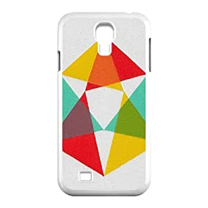 ZK-SXH - Abstract Geometric Triangles Diy Cell Phone Case for SamSung Galaxy S4 I9500, Abstract Geometric Triangles Personalized Cell Phone Case