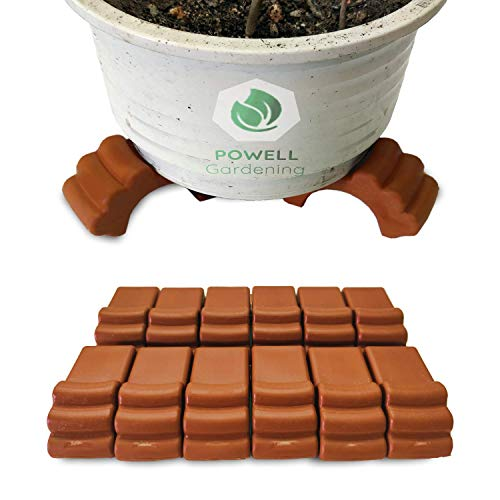 POWELL Gardening (12pc Pack) Plastic Pot Elevator – Plant/Flower Pot feet for Outdoor planters, Raises up to 4 Pots…