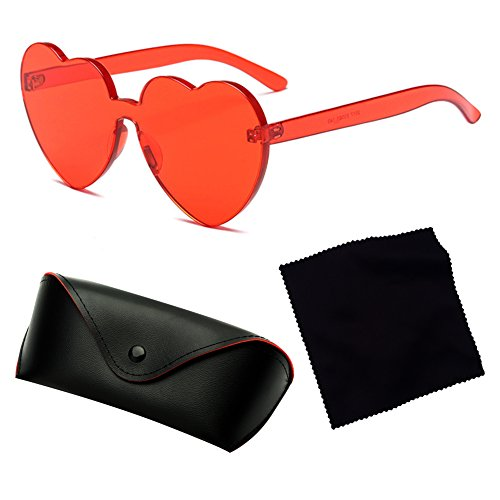 C2 Coeur Lunettes UV400 UV Coeur Intégré Bonbons Couleur juqilu Soleil Shades Sunglasse De wqO7ISS