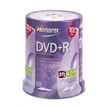 Memorex 100pk Dvd+r 16x
