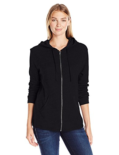 (Hanes Women's French Terry Full-Zip Hoodie, Black, Large)
