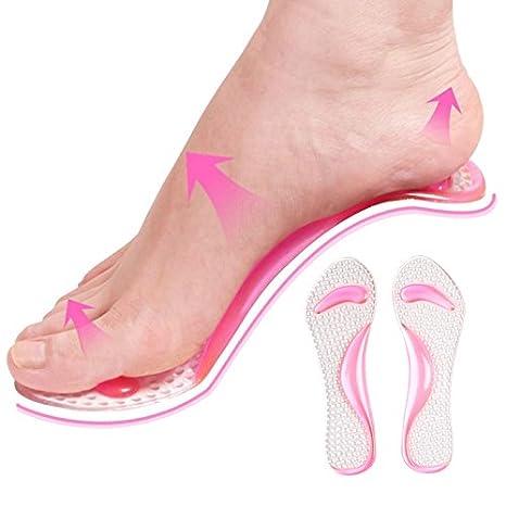 Symboat Semelles Chaussures Mode Femmes Semelles Silicone Coton Transparent Orth/èse Arch Support Pad Chaussures /À Talons Haut Ins/érer Coussin Pied Soins