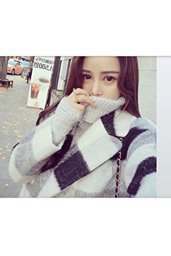 boutonnage style Femmes hiver double imperméable vérifié revers britannique outwear dHwPwqzWI