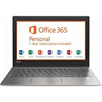 Lenovo IdeaPad Flagship High Performance 11.6 inch HD Laptop PC | Intel Celeron N3350 | 2GB RAM | 32GB | HDMI | USB Type-C | Bluetooth | Office 365 Personal | Windows 10 (Grey/N3350)