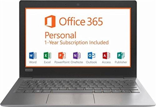 Lenovo IdeaPad Flagship High Performance 11.6 inch HD Laptop PC | Intel Celeron N3350 | 2GB RAM | 32GB | HDMI | USB Type-C | Bluetooth | Office 365 Personal | Windows 10 (Grey/N3350)