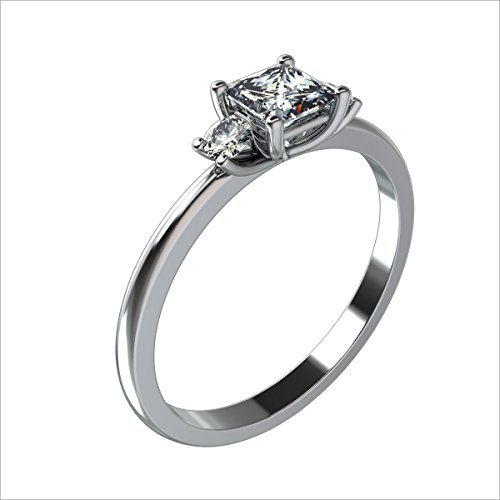 0.47 Ct Princess Diamond - 1