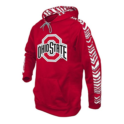 Ohio State Buckeyes Print (NCAA Ohio State Buckeyes Men's Zubaz Zebra Print Accent Team Logo Synthetic Hoodie, X-Large, Red)