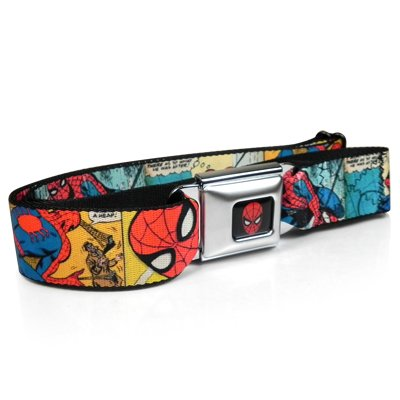 Buckle Down Boys Seatbelt Belt Spider-Man, Multi, Regular
