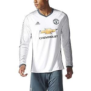 adidas 3 JSY L Camiseta 3ª Equipación Manchester United 2015/16, Hombre, Blanco/Azul, L