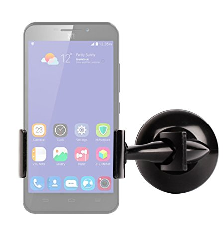 DURAGADGET Ultra-Contemporary 'Clamp-Style' In-Car Windscreen & Dashboard Smartphone Holder with Suction Cup Mount for the NEW ZTE Grand S3 / V5 Lux, Gionee Elife S7 & Meizu MX4 (Ubuntu) Smartphones