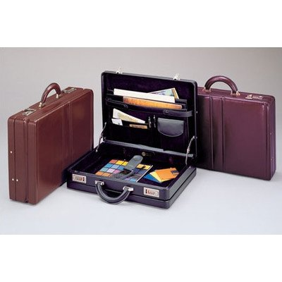 Winn Leather Expandable Attache Case Burgundy
