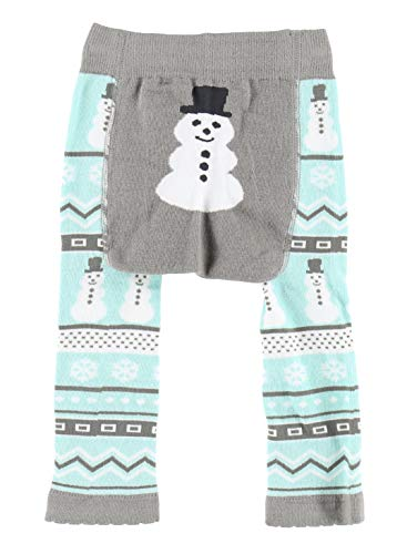 Nordic Snowman Infant Leggings Animal Designs by LazyOne | Soft Stretchy Baby Leggings Perfect for Moving (12 MO)