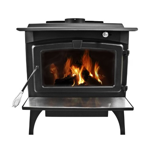 Pleasant Hearth 2,200 Square Feet Wood Burning Stove, Large (Stove Hearth For Wood Brick)