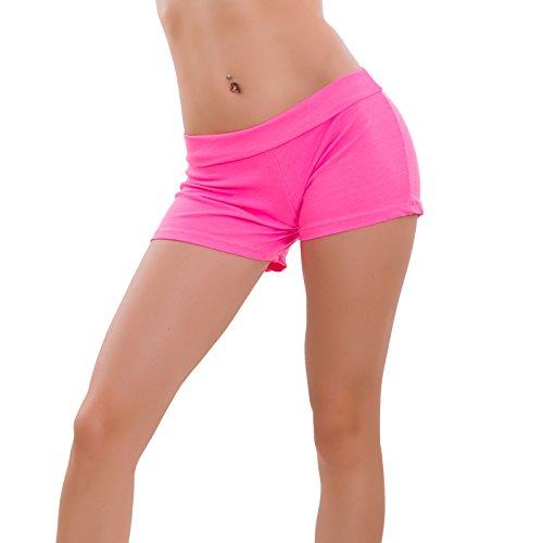 pant nuovi shorts fitness hot Toocool palestra donna sport CC elastici 1436 Rosa Fluo Pantaloncini wznqHa8