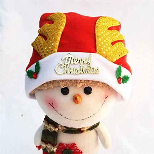 (Laz-Tipa - Adult children Chirstmas Hat Antlers Navidad natal Hat Christmas Party Santa Hat Red And White Cap Xmas Decoration)