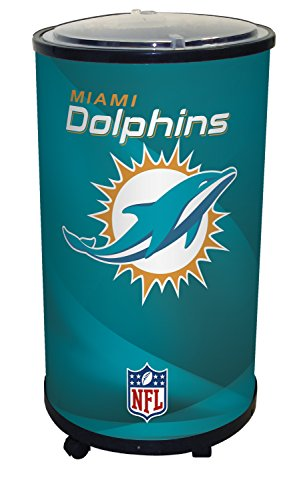 NFL Miami Dolphins Ice Barrel Cooler, Black, 19'' by Glaros