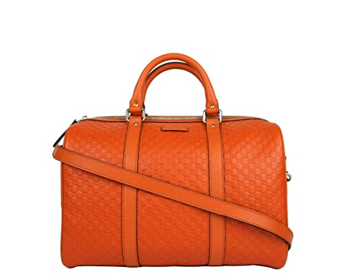 Gucci Women's Orange Guccissima Leather Medium Boston Bag 449646 7527