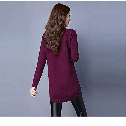 lunga lunga caldo testa e Viola donne basa girocollo maglione Donna Donna Donna velluto Shirloy sezione maglione che ispessimento qtxPSW5I