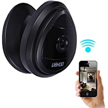 Security Mini IP Camera, UOKOO 1280x720p Home Surveillance Camera Wireless IP Camera With Built In Microphone WiFi Security Camera, Motion Detection Black