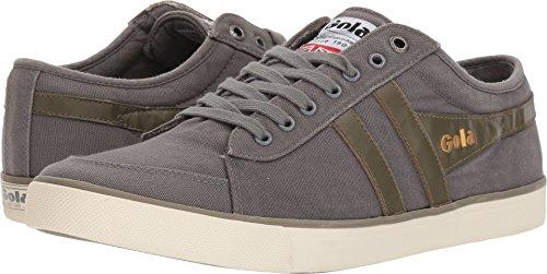 - Gola Men's Comet Plimsoll Sneakers | Grey/Khaki - Gray - 10