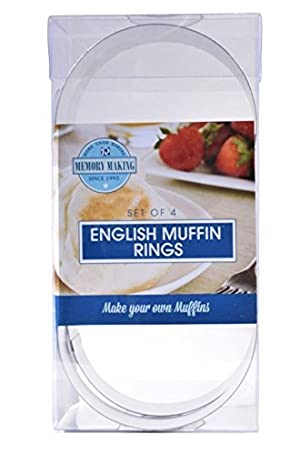 R & M 2080 English Muffin Mold Rings, Set of 4 by